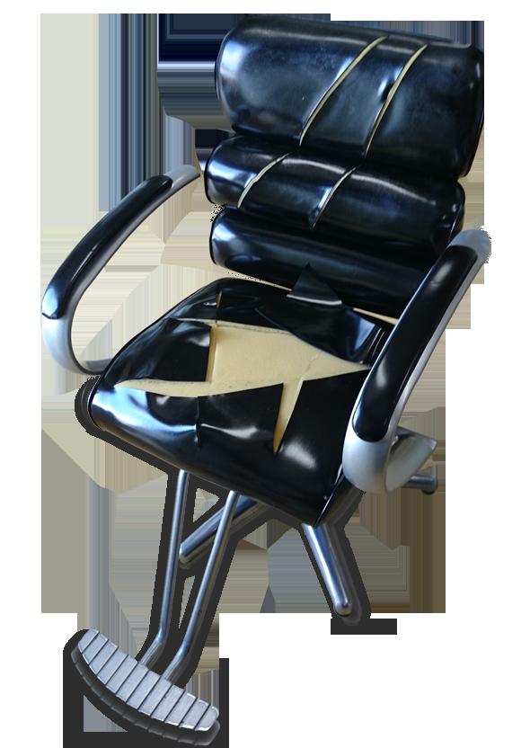 衣川ウレタン美容室セット椅子張替前